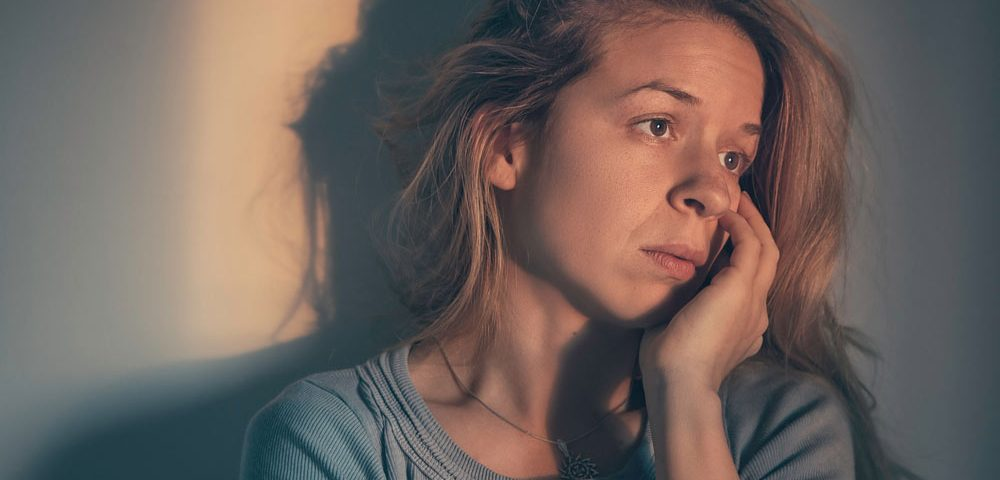 girl with insomnia looking into the distance